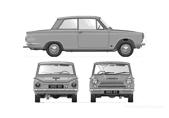 Ford Cortina Mk I 1500 2-door Sedan 1962