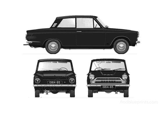 Ford Cortina Mk I 1500 2-door Sedan 1964