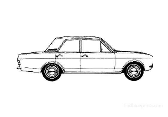 Ford Cortina Mk II Sedan 1966