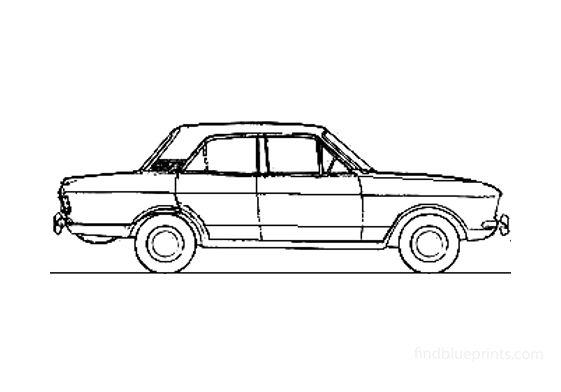 Ford Cortina Mk II Sedan 1967