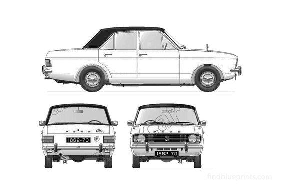 Ford Cortina Mk II 1300 DeLuxe Sedan 1966