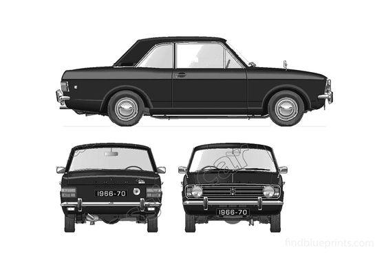 Ford Cortina Mk II 1600GT 2-door Sedan 1966
