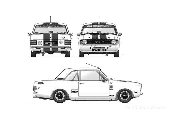 Ford Cortina Mk II 1600GT Rally Sedan 1970