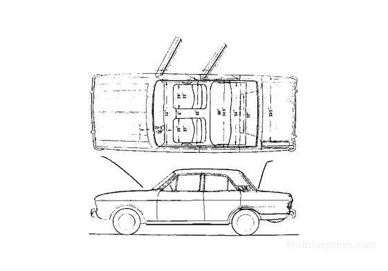 Ford Cortina Mk II 2-door Sedan 1966