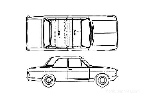 Ford Cortina Mk II 2-door Sedan 1967
