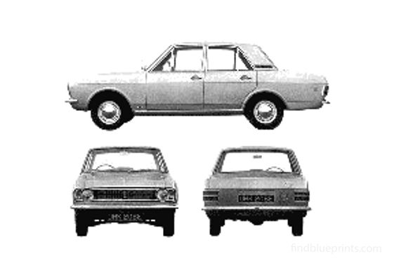 Ford Cortina Mk II GT 4-door Sedan 1967