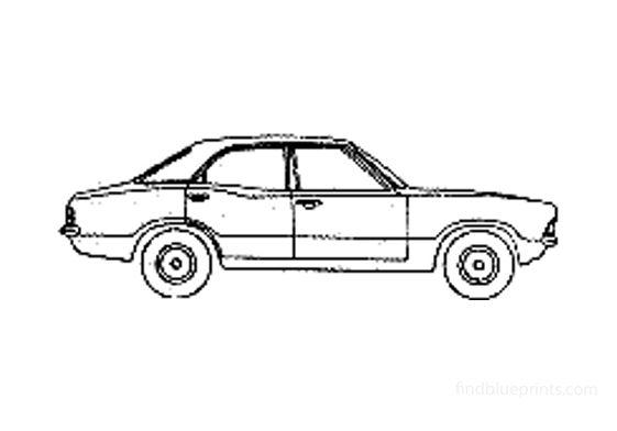 Ford Cortina Mk III Sedan 1970