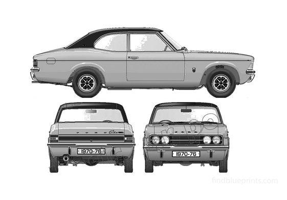 Ford Cortina Mk III GLX 2000 2-door Coupe 1976