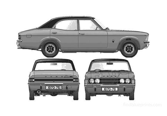 Ford Cortina Mk III GLX 2000 4-door Sedan 1976