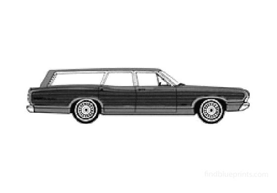Ford Country Squire Wagon 1968