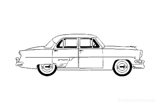 Ford Crestline Fordor Sedan 1954