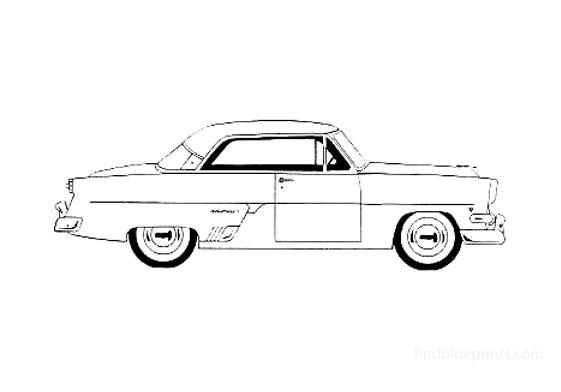 Ford Crestline/Victoria Hardtop Coupe 1954