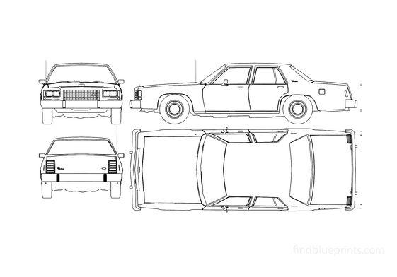 Ford Crown Victoria Sedan 1985