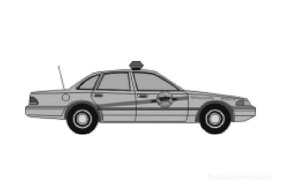 Ford Crown Victoria Sedan 1992