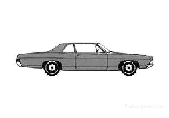 Ford Custom 2-door Sedan 1968