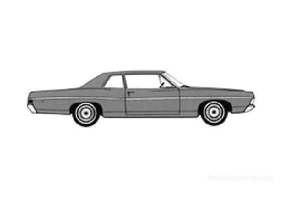Ford Custom 500 2-door Sedan 1968