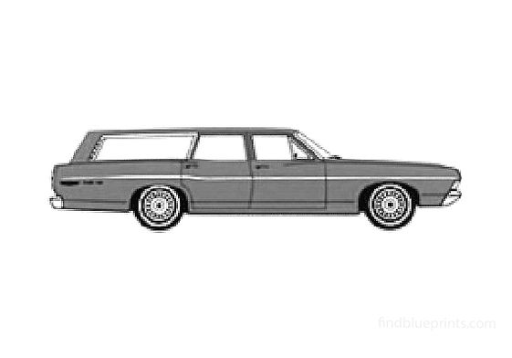 Ford Custom 500 Ranch Wagon 1968