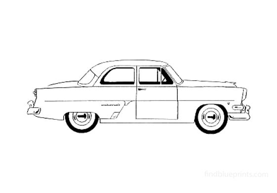 Ford Customline Club Coupe 1954