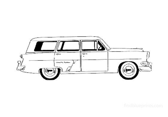 Ford Customline Country Wagon 1954