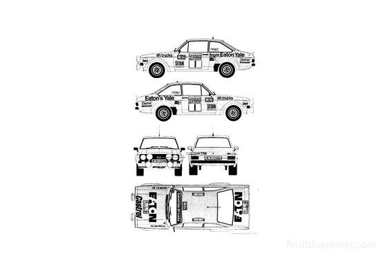 Ford E Escort Mk.II RS1800 Rallye Coupe