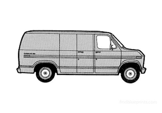 Ford Econoline Cargo SWB Van 1975