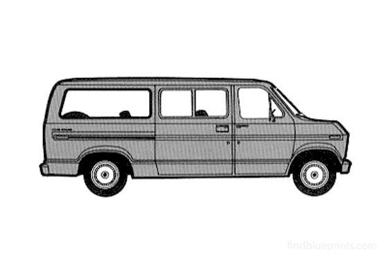 Ford Econoline Club Bus 1975
