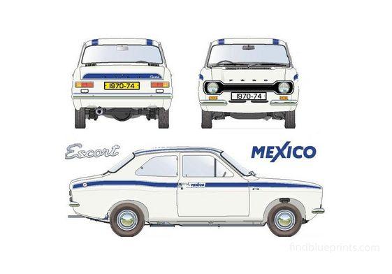 Ford Escort Mexico Sedan 1970