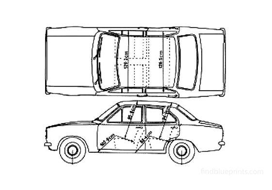Ford Escort Mk I 4-door Sedan 1972