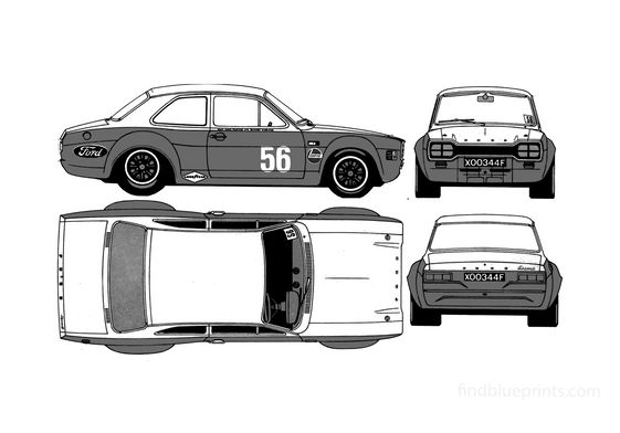 Ford Escort Mk I RS1600 Coupe 1970