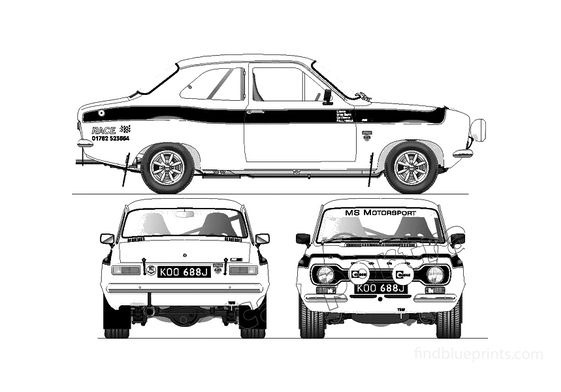 Ford Escort Mk I RS 1600 Rally Coupe 1968