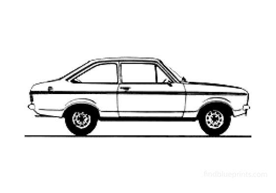 Ford Escort Mk II 2-door 1300L Sedan 1978