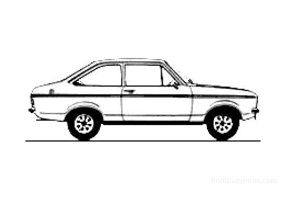 Ford Escort Mk II 2-door 1600L Sedan 1978