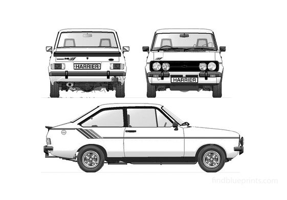 Ford Escort Mk II Harrier 16 Coupe 1980