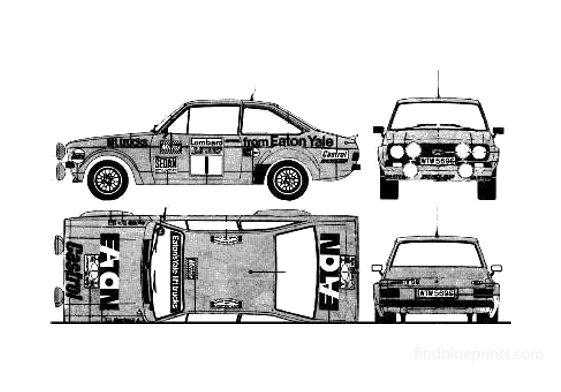 Ford Escort Mk II RS1800 Sedan 1974