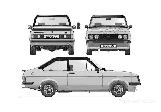 Ford Escort Mk II RS2000 Sedan 1978