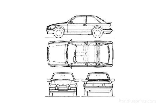 Ford Escort Mk III 3-door Coupe 1987
