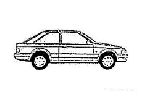 Ford Escort Mk III 3-door Hatchback 1986