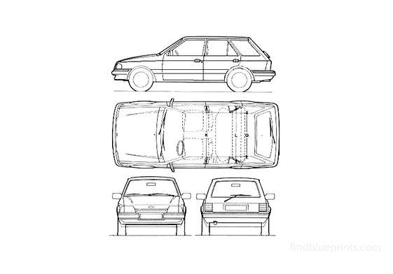 Ford Escort Mk III 5-door Estate Wagon 1987
