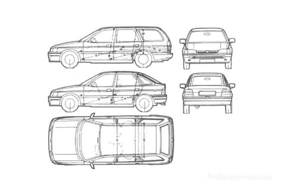 Ford Escort Mk V Hatchback 1991