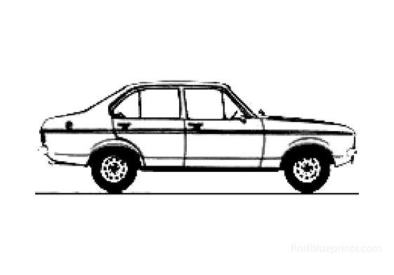 Ford Escort MkII 1300l 4-door  Sedan 1978