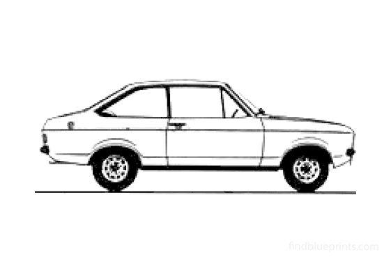 Ford Escort MkII 2-door Sedan 1978