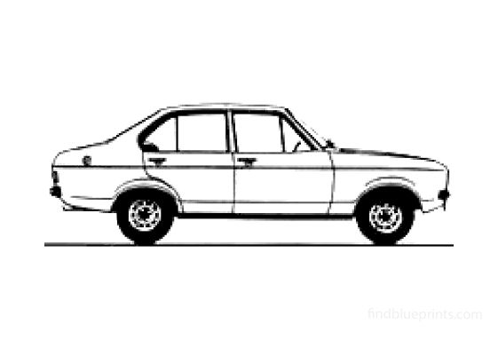 Ford Escort MkII 4-door Sedan 1978