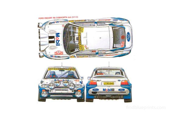 Ford Escort RS Cosworth Rallye Coupe 1992