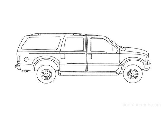 Ford Excursion SUV 2000