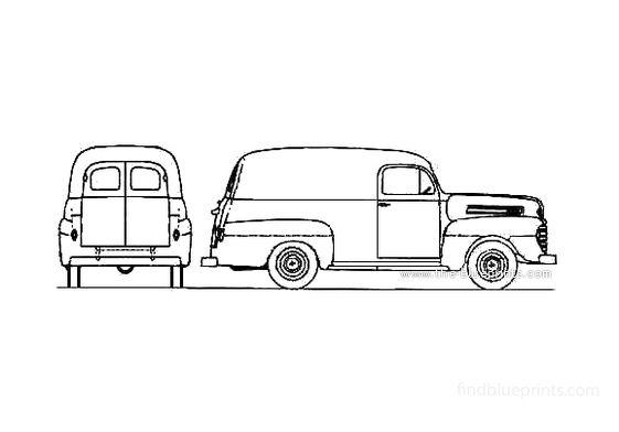 Ford F-1 Panel Van 1948