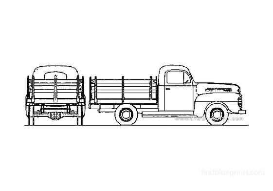 Ford F-1 Stake Truck 1948
