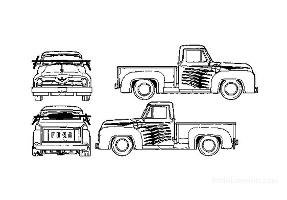 Ford F-100 Pick-up 1955