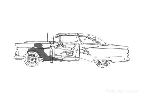 Ford Fairlane 2-door Hardtop Coupe 1955
