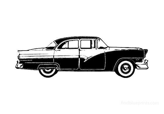 Ford Fairlane Fordor Sedan 1956