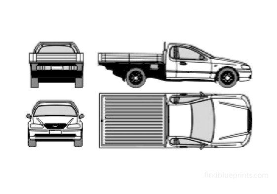 Ford Falcon UTE Trader Truck 2003